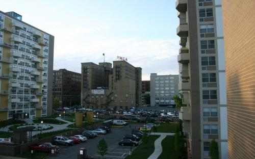Balcony View, Facing North, CityView Apartments, Downtown St. Louis