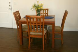 Standard Square Kitchen Table - Clayton Corporate Apartment