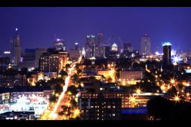 Towne House Apartments - City View at Night - St. Louis Corporate Housing (Photo Provided)